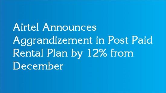 airtel post paid plan