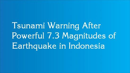 indonesia tsunami warning