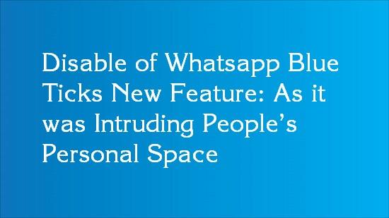 whatsapp blue tick disable steps