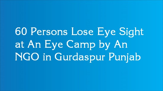 eye sight lose in eye camp