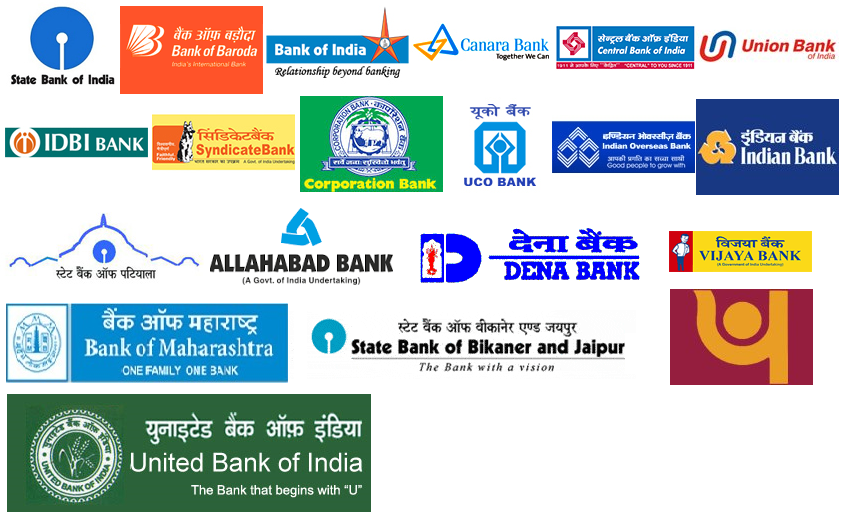logo of all nationalised banks in india