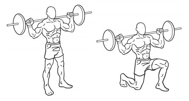 friday-gym-workout-schedule-barbell-lunges