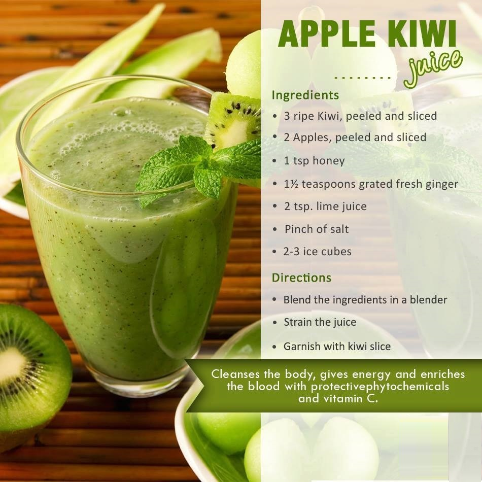 apple kiwi smoothies benefits of healthy juices and recipes