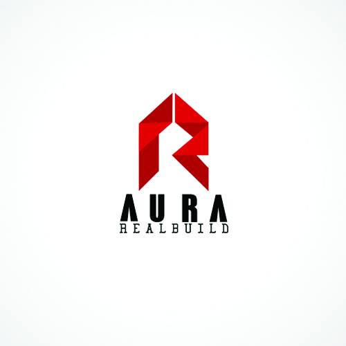 aura real build real estate logo designs ideas