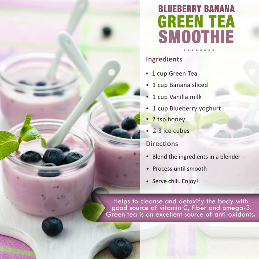 blueberry banana green tea smoothies benefits of healthy juices and recipes