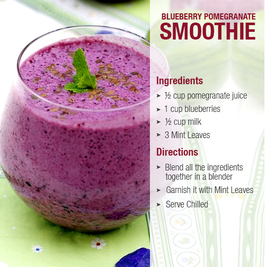 blueberry pomegranate smoothies benefits of healthy juices and recipes