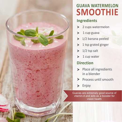 guava watermelon smoothies benefits of healthy juices and recipes