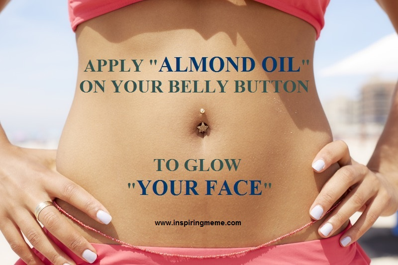 Putting Almond Oil in Your Belly Button