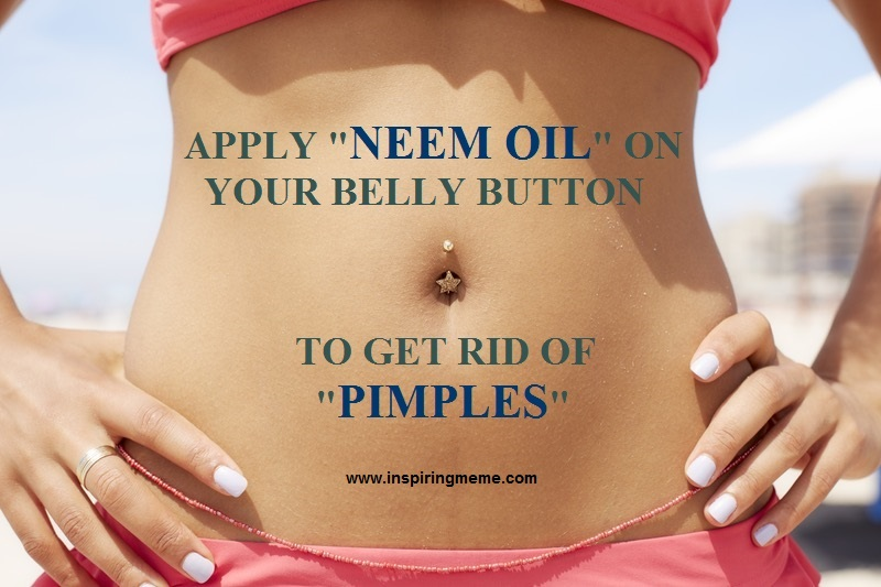 Putting Neem Oil in Your Belly Button