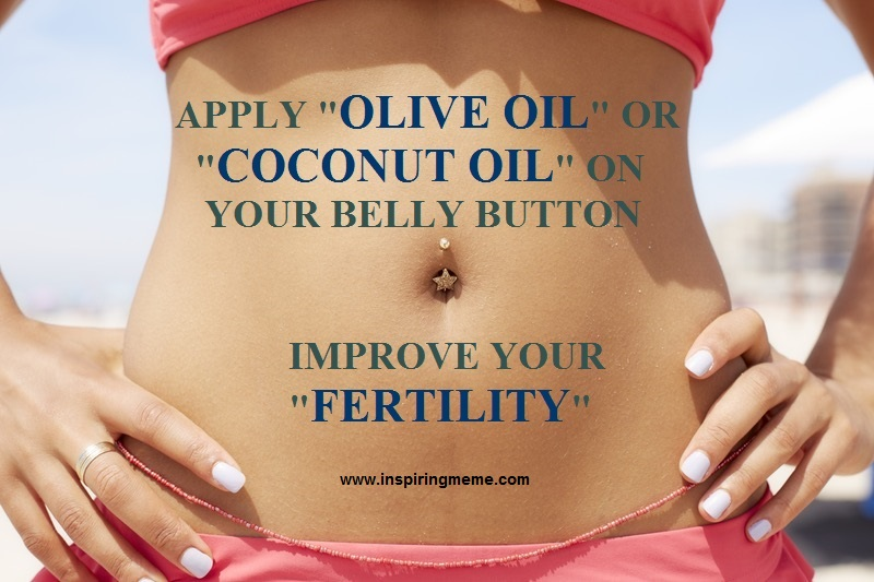 Benefits of Olive Oil or Coconut Oil in Your Belly Button