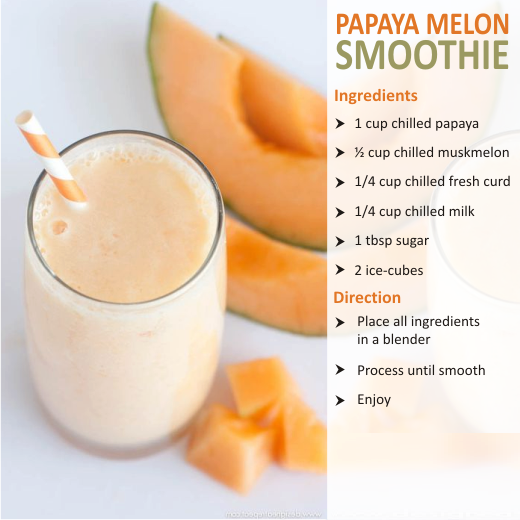 papaya melon smoothies benefits of healthy juices and recipes