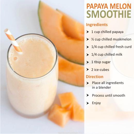 papaya melon smoothies benefits of healthy juices and recipes