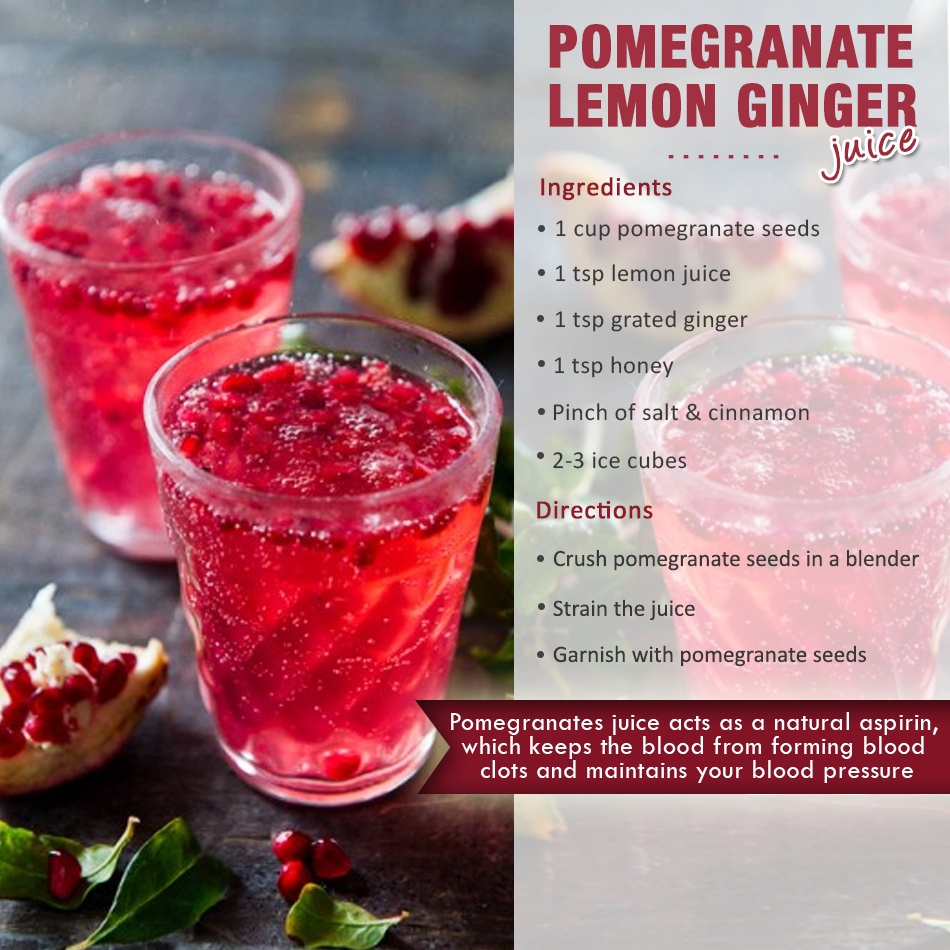 pomegranate lemon ginger smoothies benefits of healthy juices and recipes