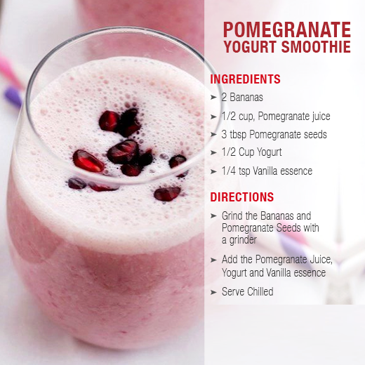 pomegranate yogurt smoothies benefits of healthy juices and recipes