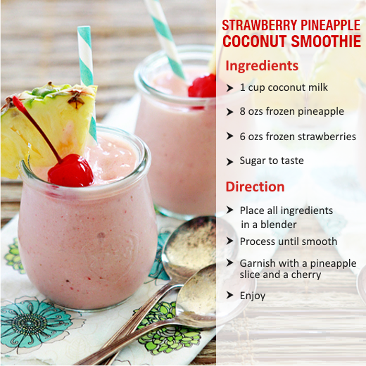 strawberry pineapple coconut smoothies benefits of healthy juices and recipes