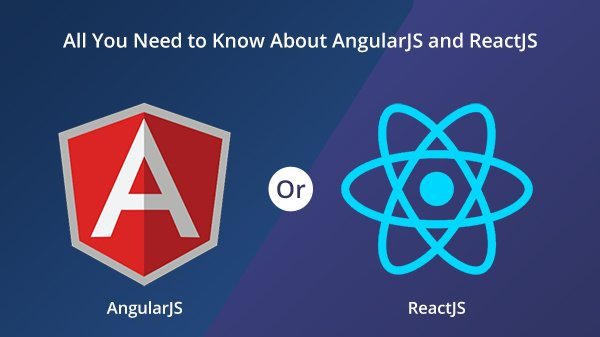 angularjs and reactjs framework