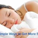 6 Simple Ways to Get More Sleep