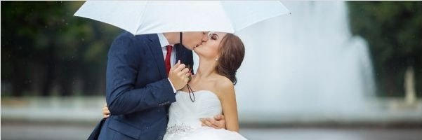 shooting a wedding on a rainy day