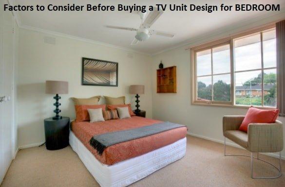 modern tv unit design for bedroom