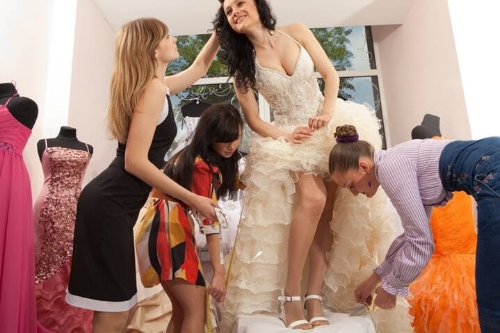bride dress fit and flares