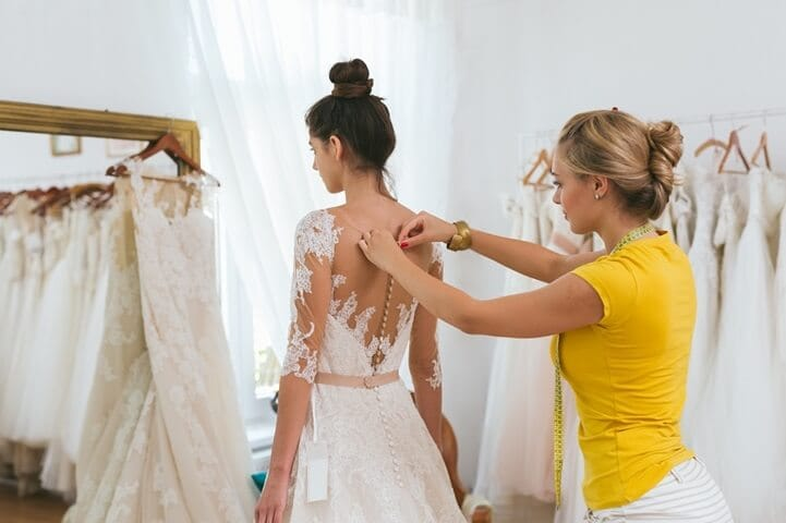 bride dress off the shoulder