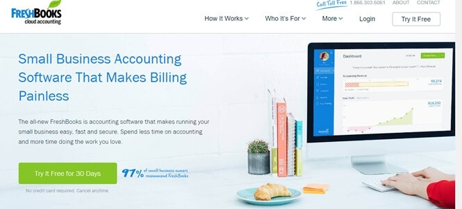 freshbooks business software