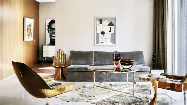 metallic furnishings