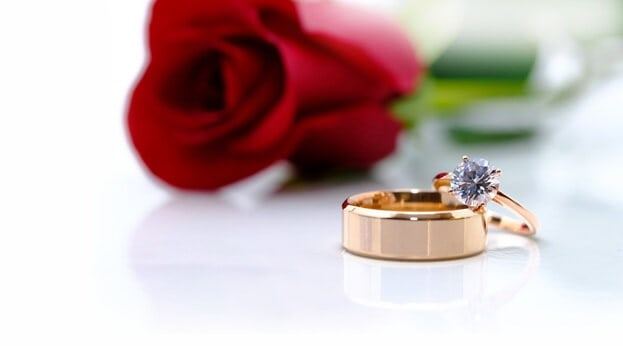 rose gold wedding bands mens