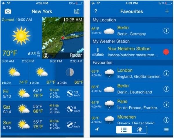 weatherpro mobile phone app