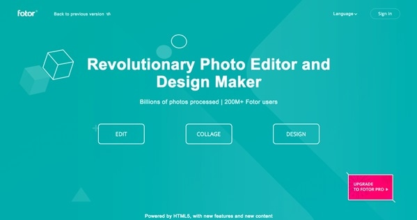 fotor prebuilt modules for creating collages