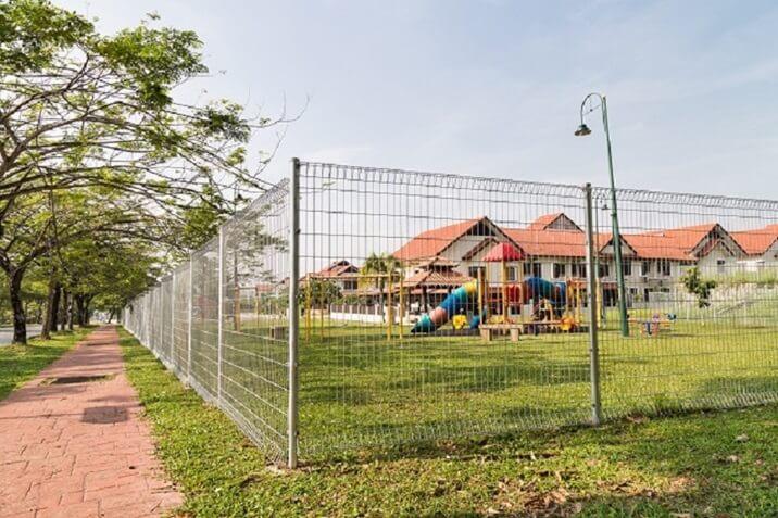 installation of a school fence