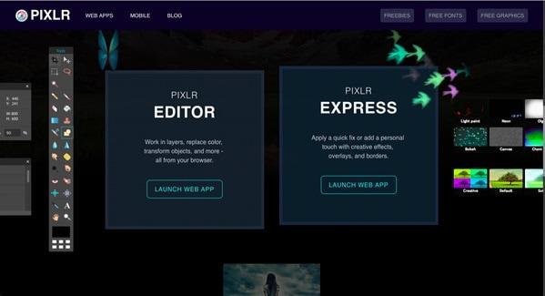 pixlr online image editing tool