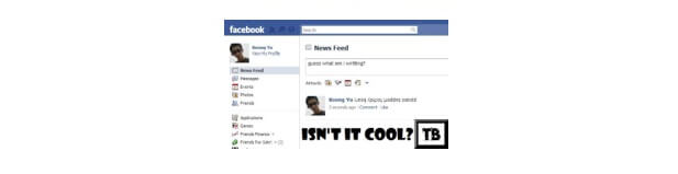 text upside down facebook