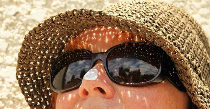 sun hats and sunglasses