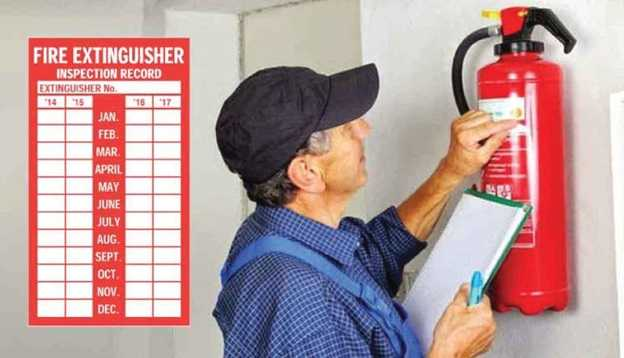 fire extinguisher monthly inspection checklist