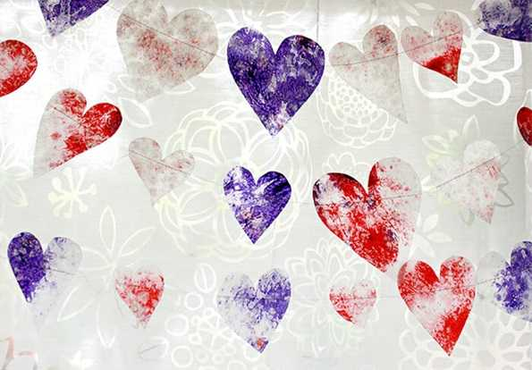 heart string decorations