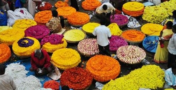 kr flower market bangalore
