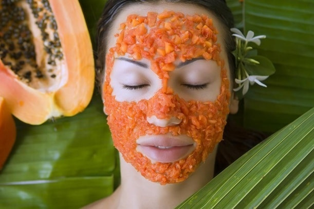 organic papaya face mask