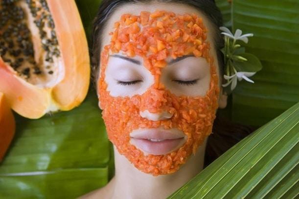 organic papaya face mask