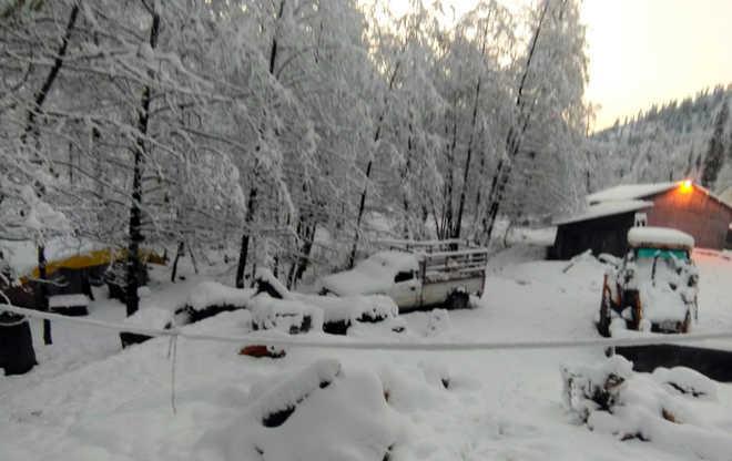 winter snowfall in kufri