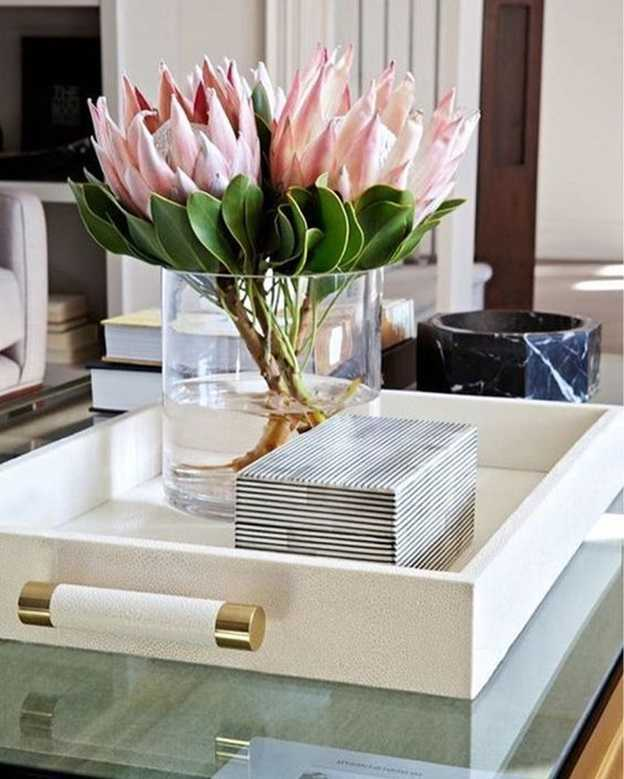 flowers on the coffee table