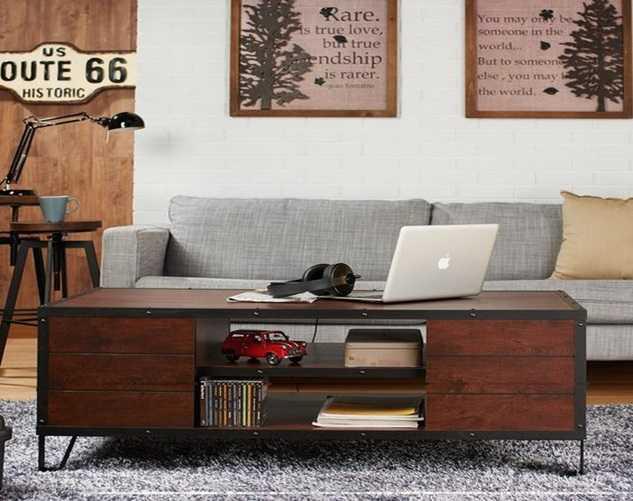 handmade artwork coffee table