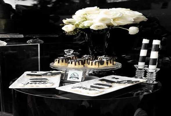 monochromatic coffee table