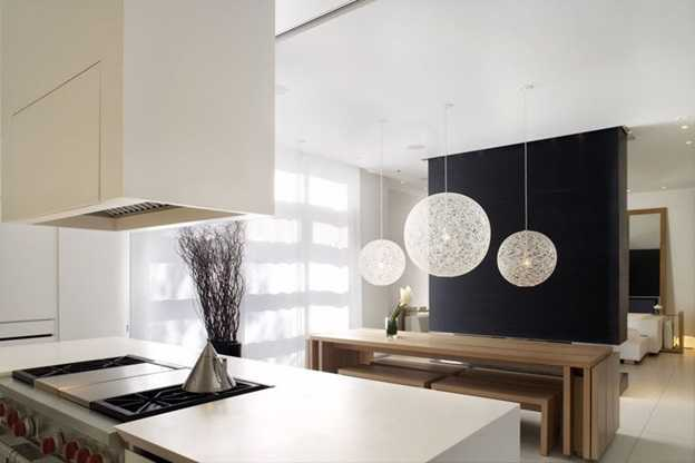 stylish lights near coffee table