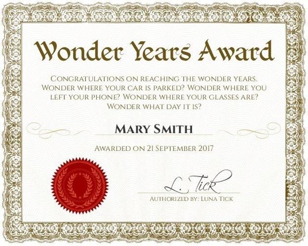 honorary certificate gift