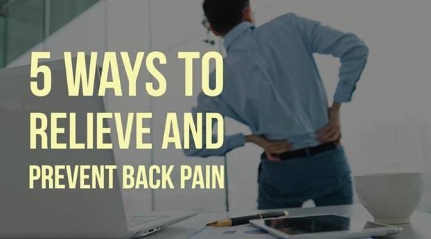 5 ways to avoid back pain