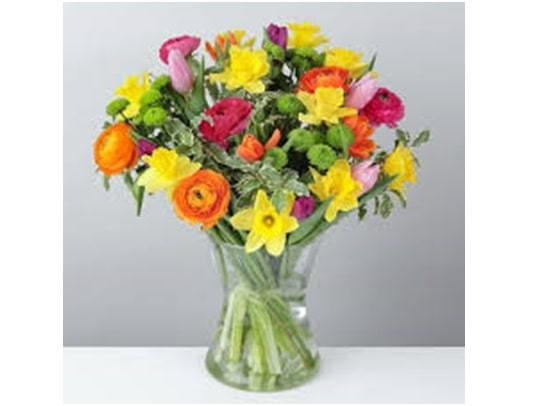 color burst flowers bouquet