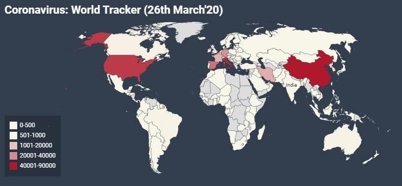 coronavirus world tracker update