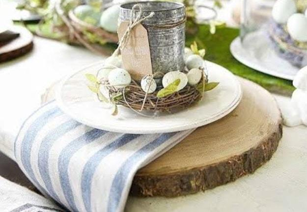 rustic for easter table decoration