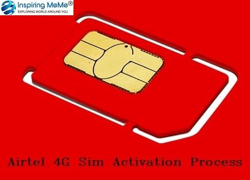 airtel 4g sim activation process